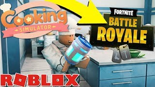 PLAYING FORTNITE IN COOKING SIMULATOR!? *NEW UPDATE* (Roblox)