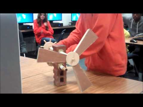 Windmills from recycled materials 2013 14 period 1 youtube for Make project using waste materials