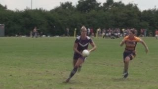 Huge Womens Rugby Tackle