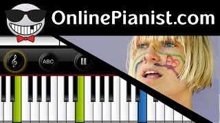 How to play Fire Meet Gasoline by Sia - Piano Tutorial