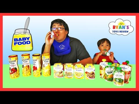 Thumbnail: BABY FOOD CHALLENGE Super Gross Flavors! Ryan ToysReview