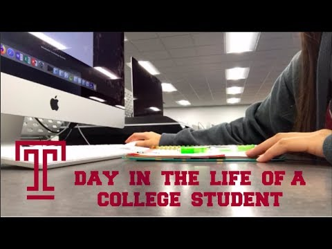 Day in the Life of a College Student! || Temple University