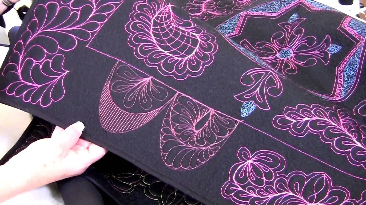 Handi Quilter shows how to use HQ Swag Template Set - YouTube : handi gadgets quilting - Adamdwight.com