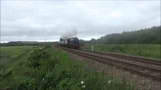 LMS Jubilee No 45699 Galatea The Scarborough Spa Express near Staxton - 29/06/2017