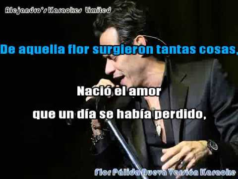 Marc Anthony Flor Palida Nueva Version Karaoke Youtube