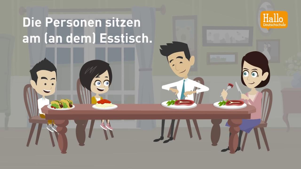 deutsch lernen mit dialogen lektion 48 wechselprapositionen dativ oder akkusativ