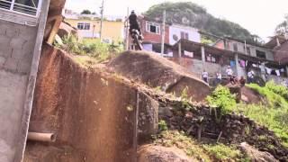 Watch French motorcyclist Julien Dupont stunt his way through Rio de Janeiro