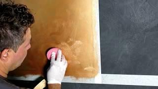 Pintura decorativa con efecto metalizado - Arcocem Metal