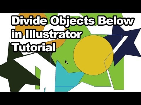 Illustrator Tutorial : Divide Objects Below and how to use thumbnail