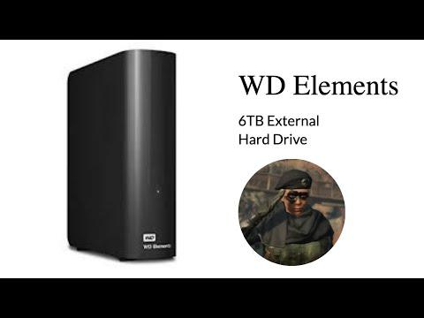 Unboxing - WD (Western Digital) External Hard Drive 6TB