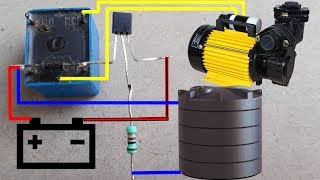 Water Pump Auto Cut Switch Circuit Diagram | Water Pump Auto ON-OFF Switch Circuit Diagram