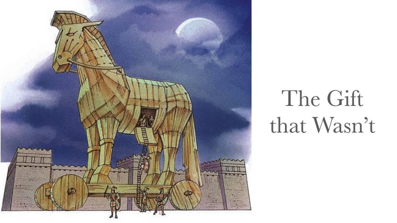 троянский конь картинка срисовать желаю, чтобы смог