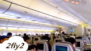 KOREAN AIR BOEING 777-300 BEIJING - SEOUL ECONOMY CLASS HD