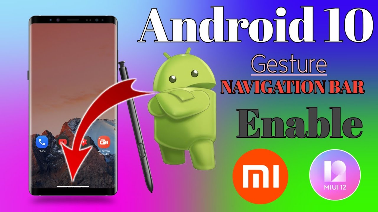 How To Enable Navigation Bar In MIUI 12 | Android 10 Navigation Bar | MIUI 12 Enable Navigation Bar - YouTube