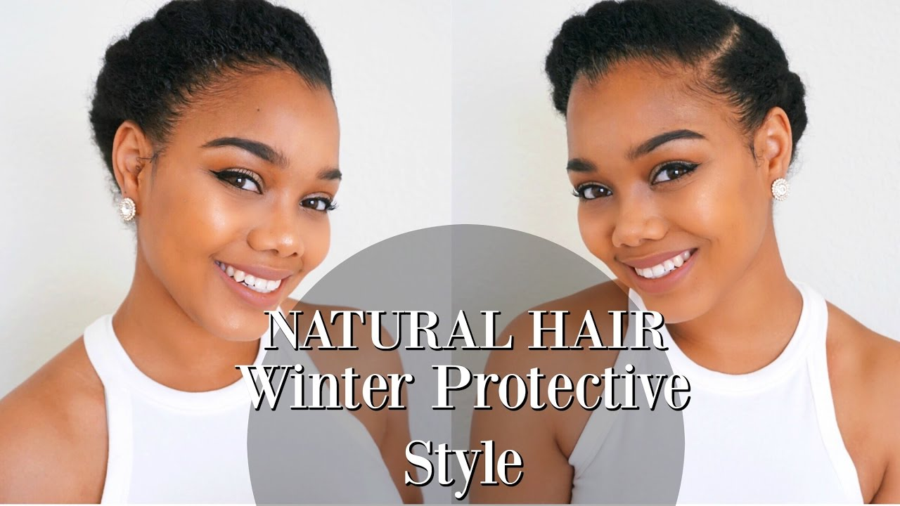 how style natural hair tutorial winter protective style for hair and 6783 | maxresdefault