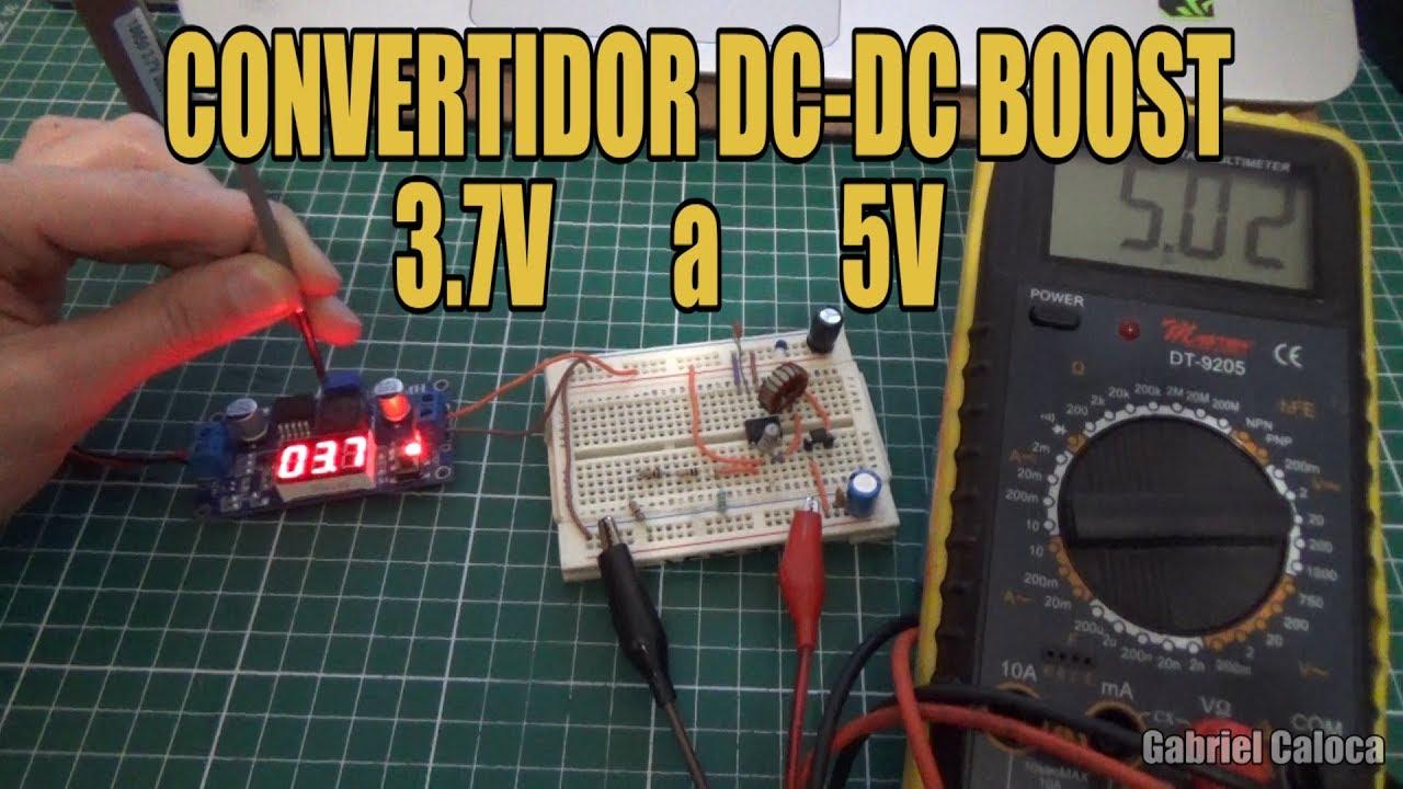 """Como hacer un convertidor DC-DC """"Boost"""" casero con el MC34063 [con diagrama electrónico]"""