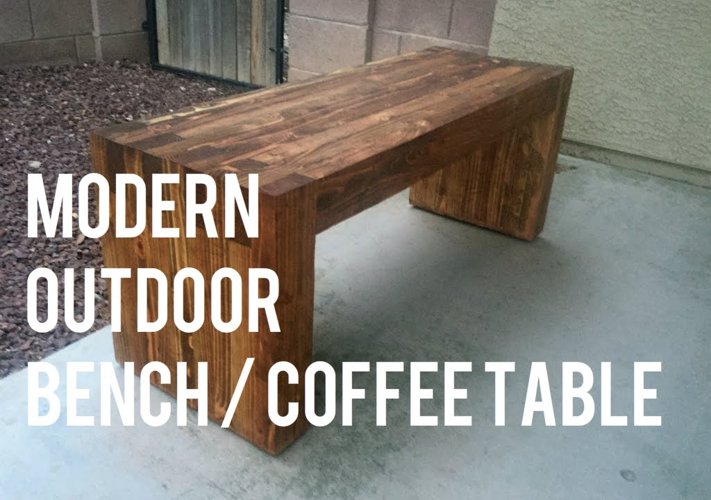 Diy Modern Outdoor Bench Coffee Table 2x4s Only Youtube
