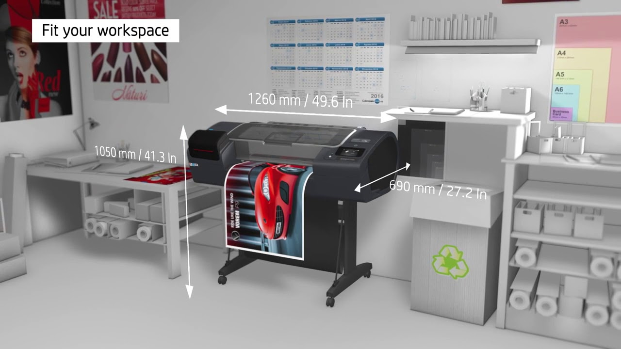 HP DesignJet Z2600 PostScript® Printer Product video - YouTube
