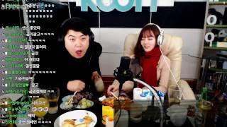 161225 [5] 크리스마스 특집 BJ'미유' 와 달달한 술먹방!! - KoonTV