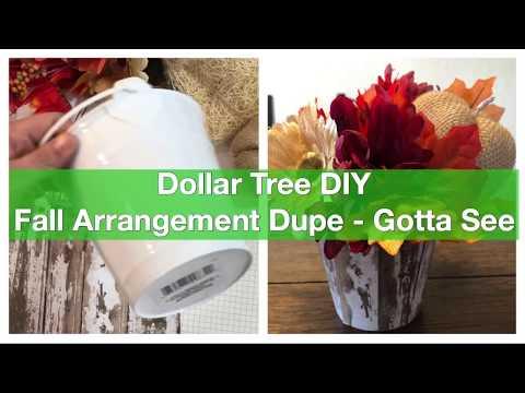 Dollar Tree DIY Fall Arrangement Dupe - Gotta See