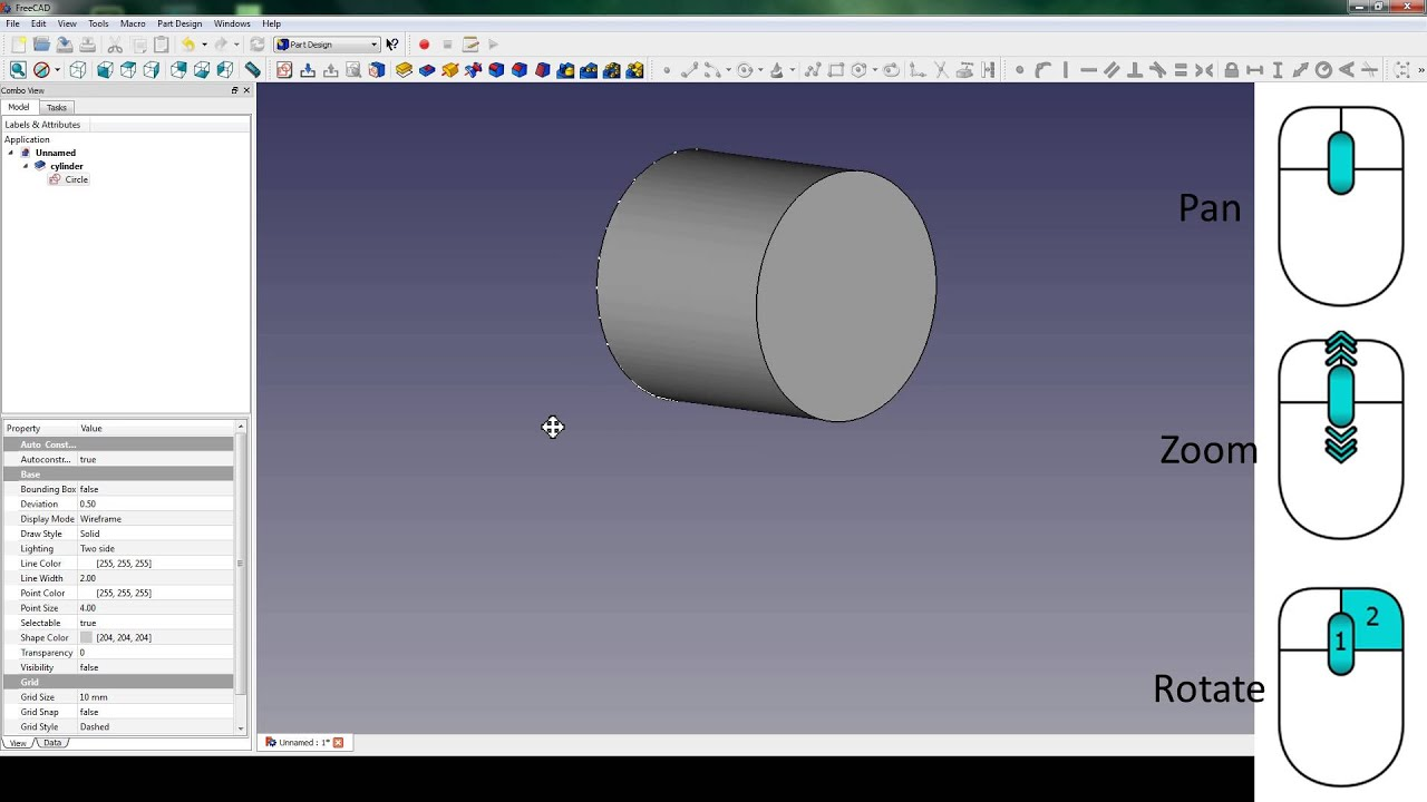 02-FreeCad Basics: Tree view and Sketch Constraint