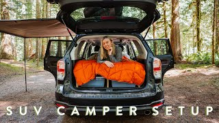 My SUV Camping Seтup | Solar Power, Cooking & Accessories