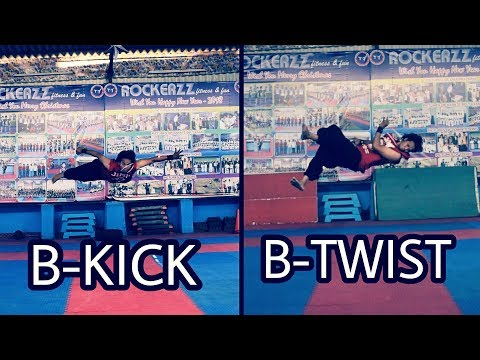 HOW TO DO A  B-KICK AND B-TWIST TUTORIAL |BY FLIP FIGHTERR NARESH|