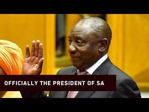 The Moment Cyril Ramaphosa Is Elected President