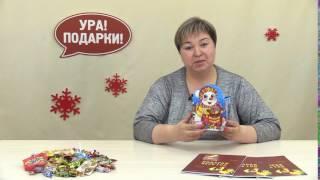Веселый снеговик - сладкий новогодний подарок(Сладкий новогодний подарок