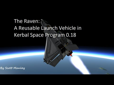 Using a Spaceplane as a Reusable Launch Vehicle in Kerbal Space Program 0.18