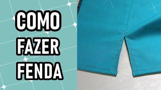 Aprenda a fazer uma abertura/fenda na sua peça de roupa de forma prática e rápida
