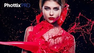 Liquid red paint dress with HSS Phottix Indra 500 TTL BTS with Emil Bilinski