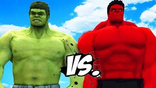 HULK VS RED HULK - EPIC SUPERHEROES BATTLE