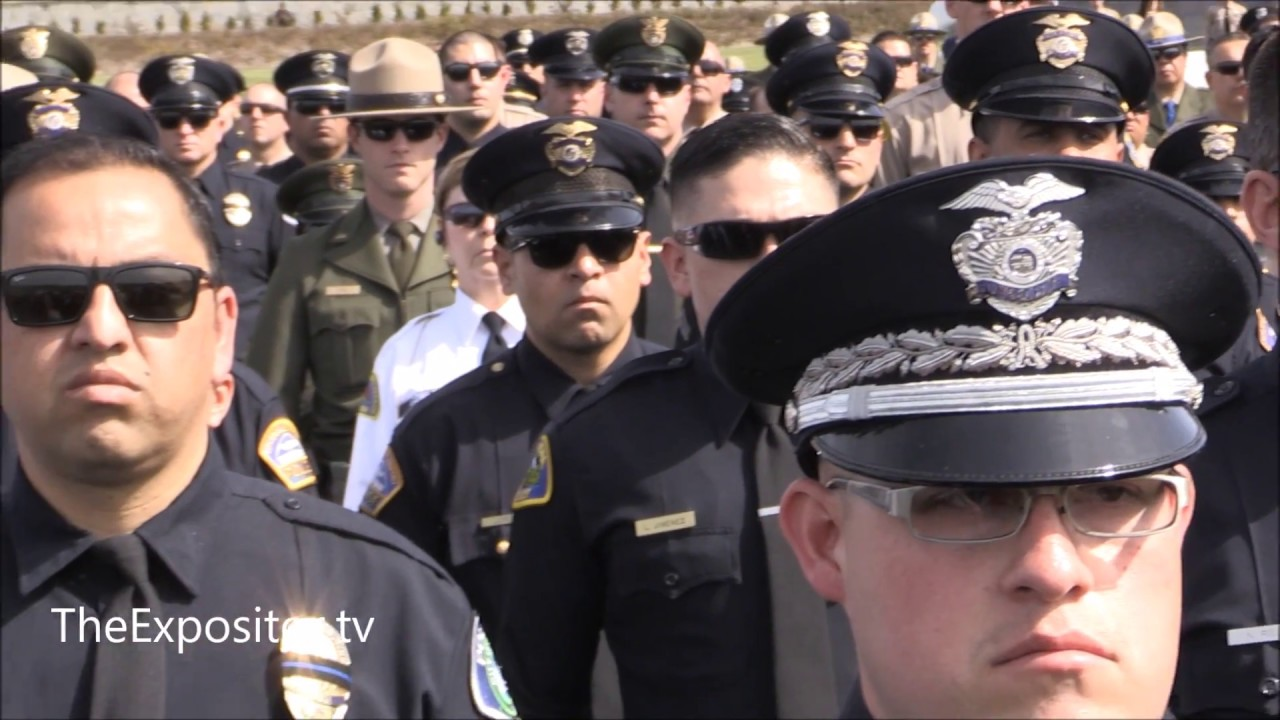Evangelizing funeral of Whittier police officer Keith Wayne Boyer