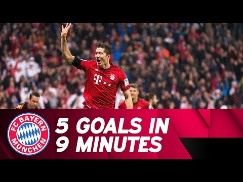 5 Goals in 9 Minutes - Lewandowski Show vs. VfL Wolfsburg | 2015/16 Season