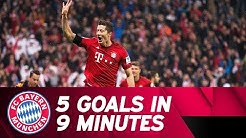 5 Goals in 9 Minutes - Lewandowski Show vs. VfL Wolfsburg | 2015/16 Season