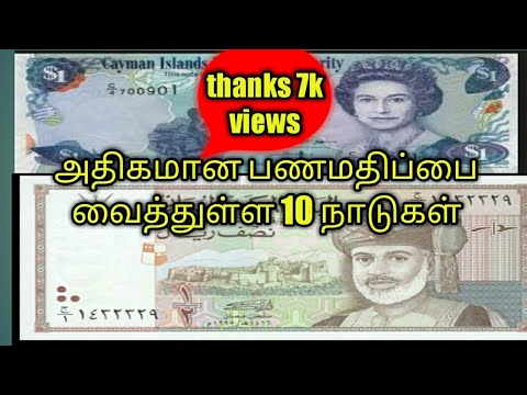 Top 10 Highest Currency In The World |Tamil |US Dollar|Euro |India