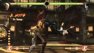 Mortal Kombat 9 - Baraka обучение + комбо