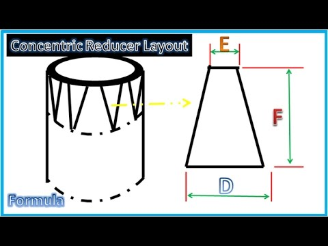How To Compute Concentric Reducer Template Layout Formula ...