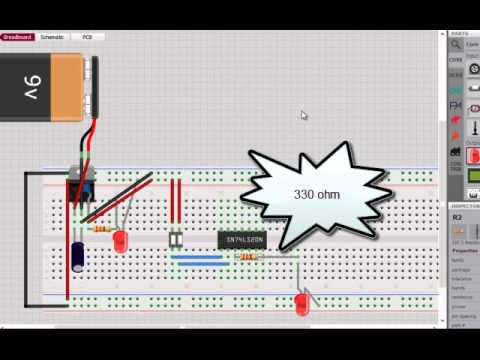 How To Connect Nand Gate In Breadboard Youtube