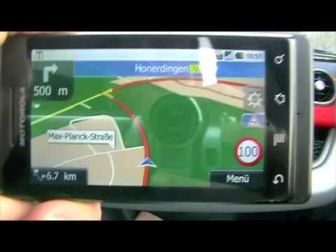 Motorola Milestone Navigation Motonav