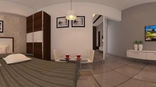 Beautiful 360 degree panorama view of Bedroom