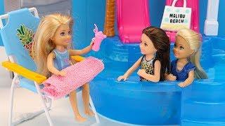 Почему Эрика Не Купается в Бассейне? Встреча Подруг  Мультик #Барби Куклы Видео для детей