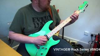 VINTAGE® Rock Series V6M24 & V7 Demo by David Locke