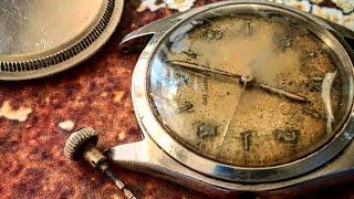 ASMR watch restoration Rolex airking 1940s