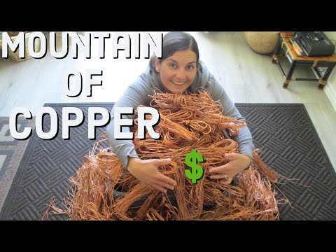 LOOK At This Huge Scrap Copper Payday $ Over 100 Pounds !!!
