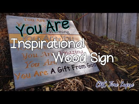 """You Are"" Inspirational Wood Sign 
