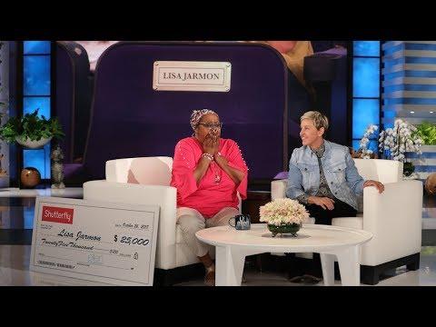 Lisa Jarmon Receives a Rare Ellen Show Honor