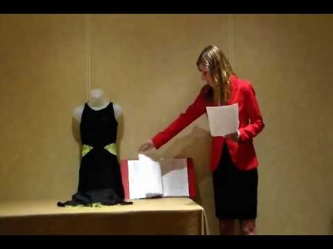 Fccla Star Events Demonstration Fashion Design Senior Central Valley Youtube