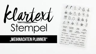 """Das Klartext-Stempelset """"Weihnachten Planner"""""""